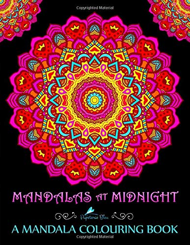 Mandalas At Midnight: A Mandala Colouring Book: Mandalas on Black Background Paper (UK Edition) from CreateSpace Independent Publishing Platform