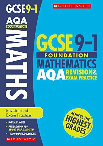 Maths Foundation Revision and Exam Practice Book for AQA (GCSE Grades 9-1) from Scholastic