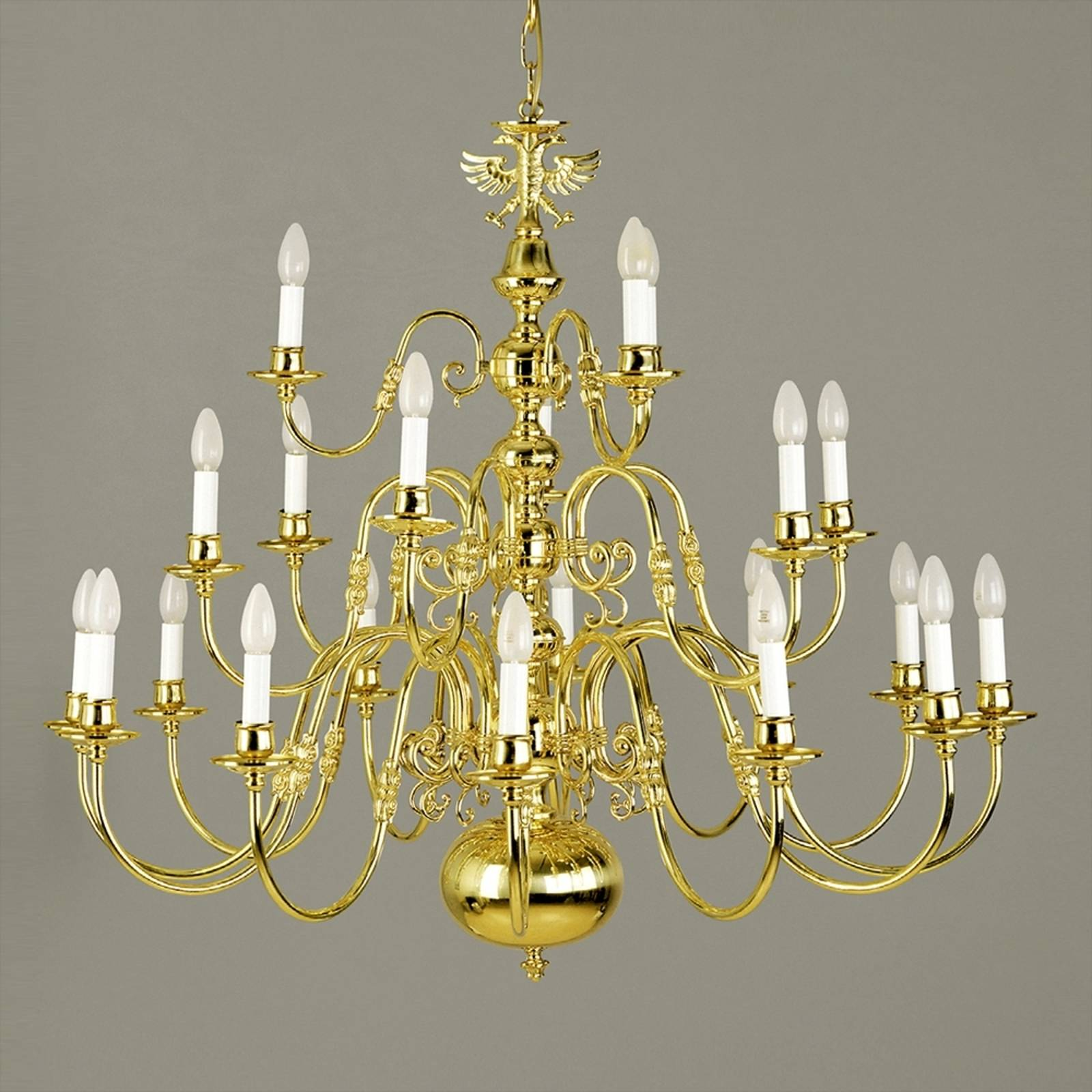 Maximilian Flemish Chandelier 21 Bulbs with Eagle from Orion