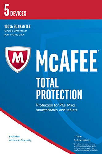 McAfee 2017 Total Protection | 5 Devices | PC/Mac/Android | Download from McAfee