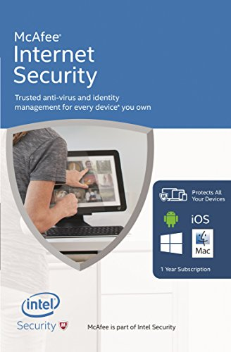 McAfee 2016 Internet Security | 10 Devices | 1 Year | PC/Mac/Android | Download from McAfee