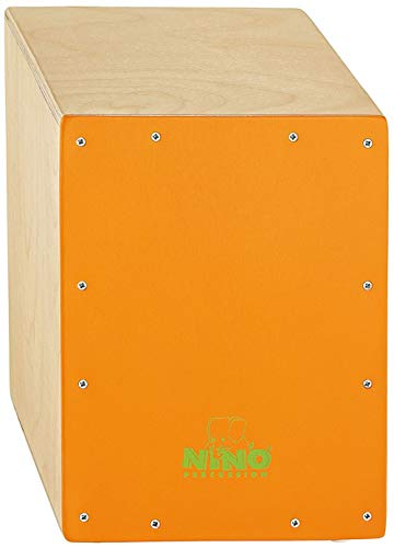 Meinl NINO950OR 13 inch Cajon - Natural with Orange Front Plate from Meinl