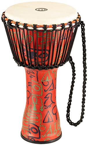 Meinl PADJ1-M-G 10 inch Travel Series Pharao´s Skript Goat Skin Rope Tuned Plastic Djembes from Meinl Percussion