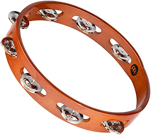 Meinl TA1AB Tambourine and Steel Jingles - African Brown from Meinl