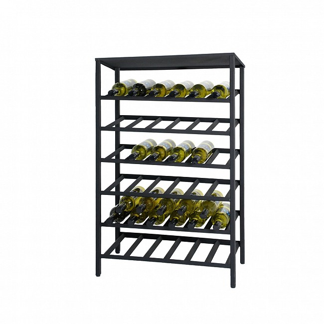 Metal wine rack BLACK PURE, H 98 x W 62 cm