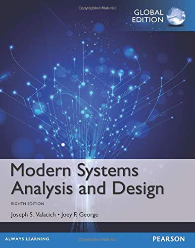 Modern Systems Analysis and Design, Global Edition from Pearson