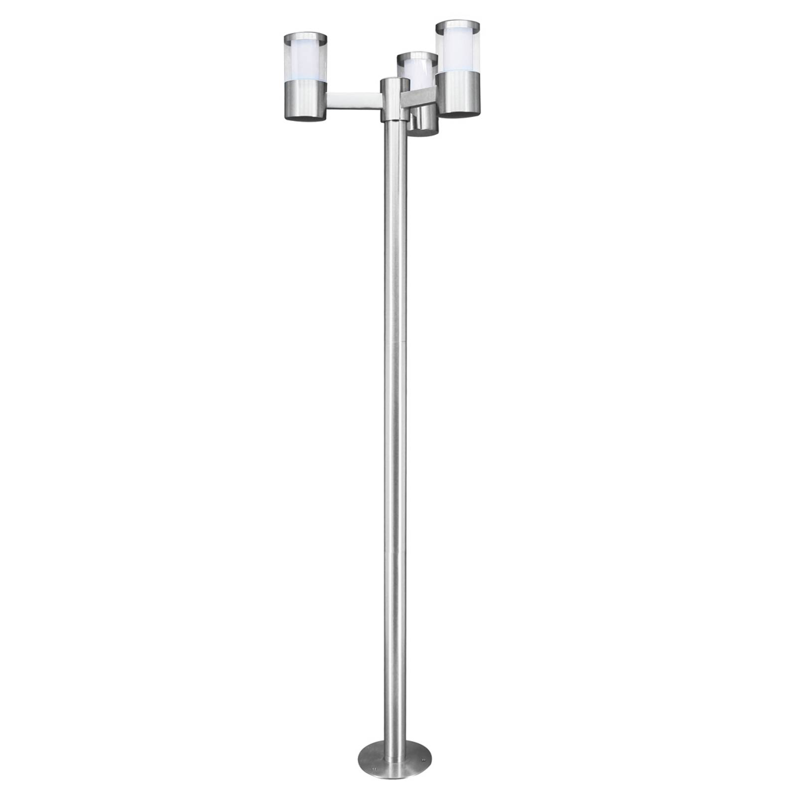Modern Basalgo stainless steel LED post light from EGLO