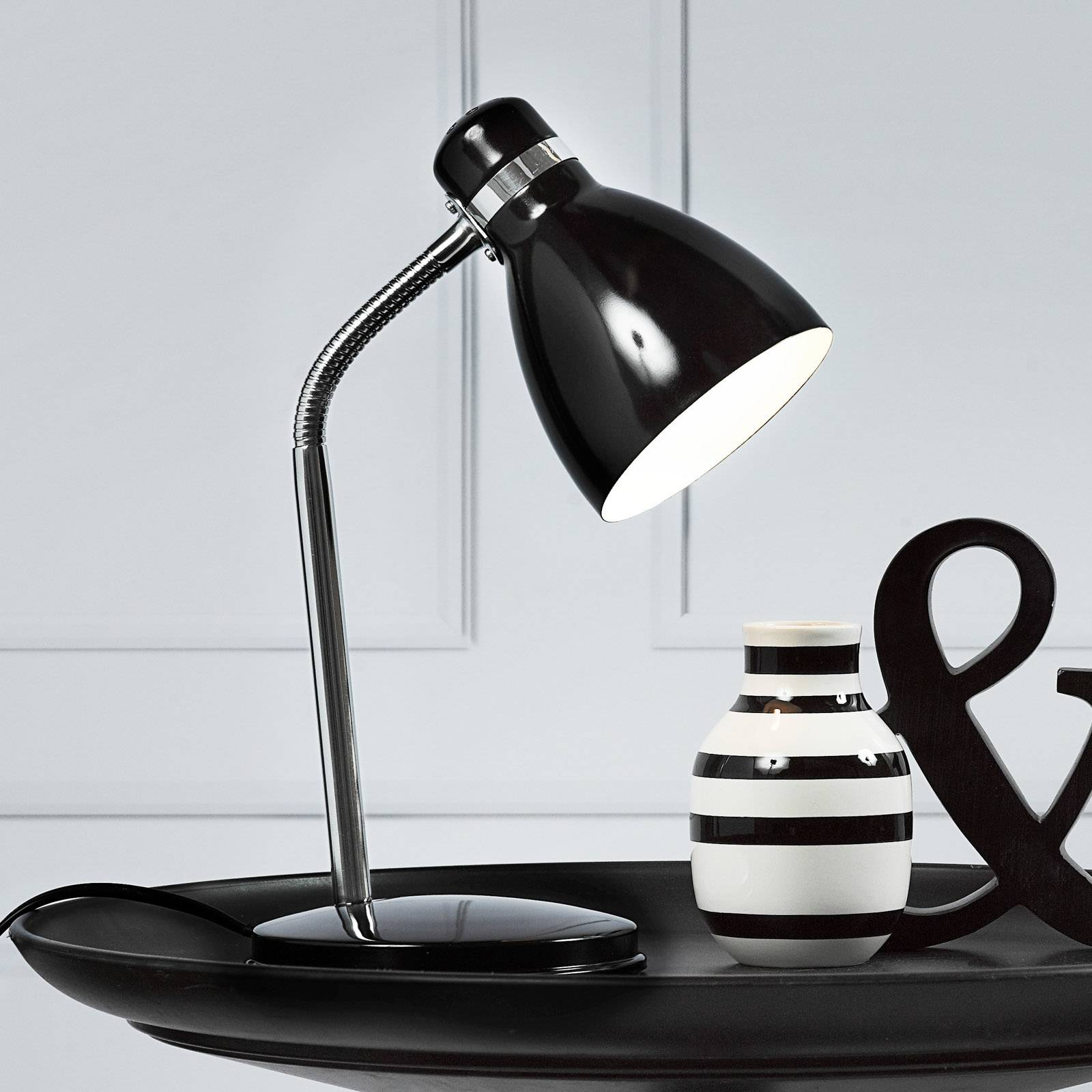 Modern table lamp CYCLONE black from Nordlux