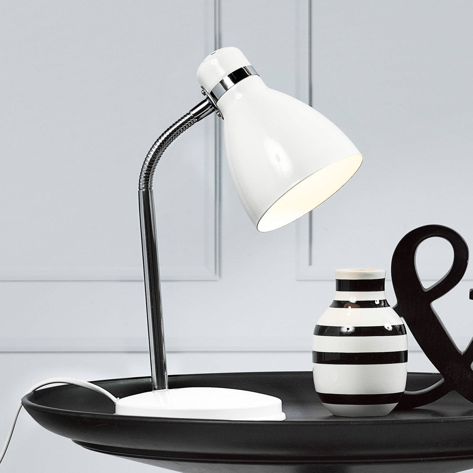 Modern table lamp CYCLONE white from Nordlux