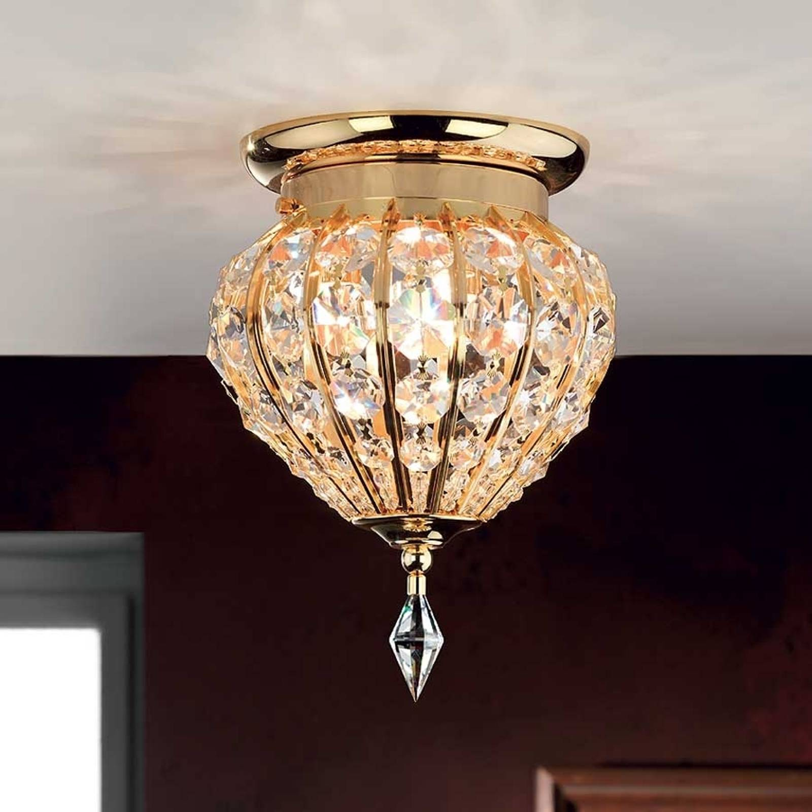 Moskva Crystal Ceiling Light 17 cm from Orion