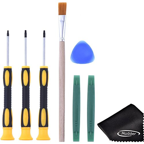 T6 T8 T10 Screwdriver Set and Open Pry Tool with Cleaning Brush for Xbox One Xbox 360 Controller from Mudder