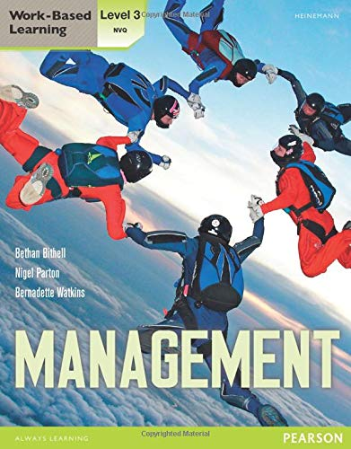 NVQ/SVQ Level 3 Management Candidate Handbook (Work Based Learning) from Heinemann