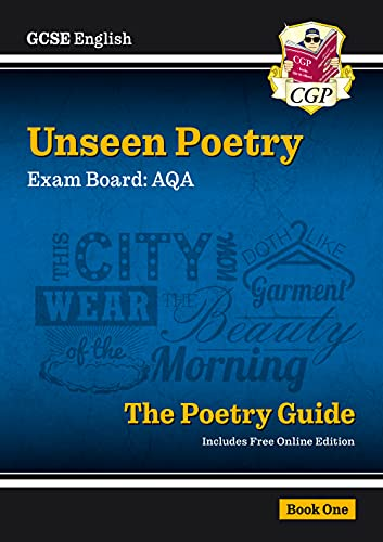 New Grade 9-1 GCSE English Literature AQA Unseen Poetry Guide - Book 1 (CGP GCSE English 9-1 Revision) from Coordination Group Publications Ltd (CGP)