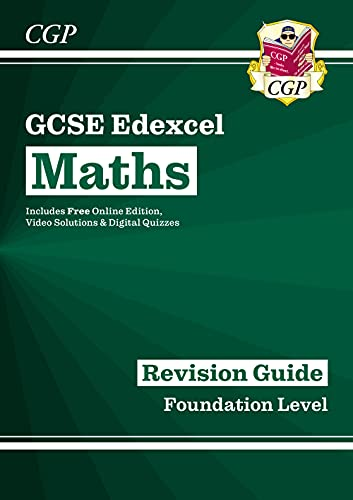 GCSE Maths Edexcel Revision Guide: Foundation - for the Grade 9-1 Course (with Online Edition) (CGP GCSE Maths 9-1 Revision) from Coordination Group Publications Ltd (CGP)