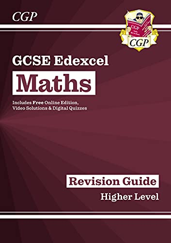 New GCSE Maths Edexcel Revision Guide: Higher - for the Grade 9-1 Course (with Online Edition) from Coordination Group Publications Ltd (CGP)