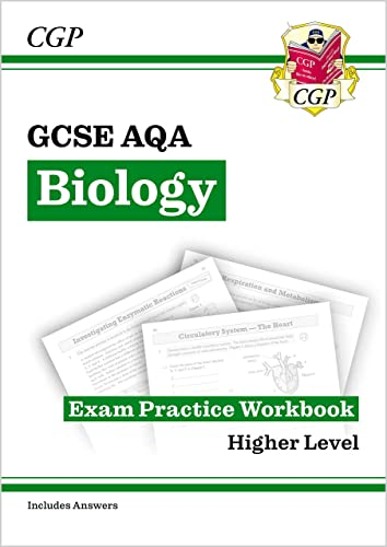 New Grade 9-1 GCSE Biology: AQA Exam Practice Workbook (with answers) - Higher (CGP GCSE Biology 9-1 Revision) from Coordination Group Publications Ltd (CGP)