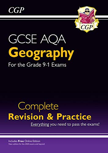 New Grade 9-1 GCSE Geography AQA Complete Revision & Practice (with Online Edition) (CGP GCSE Geography 9-1 Revision) from Coordination Group Publications Ltd (CGP)