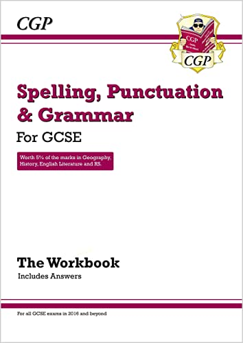 Spelling, Punctuation and Grammar: for Grade 9-1 GCSE Workbook (includes Answers) (CGP GCSE English 9-1 Revision) from Coordination Group Publications Ltd (CGP)