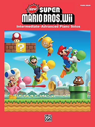 New Super Mario Bros. Wii: Intermediate / Advanced Piano Solos (Piano Book) from Alfred Music