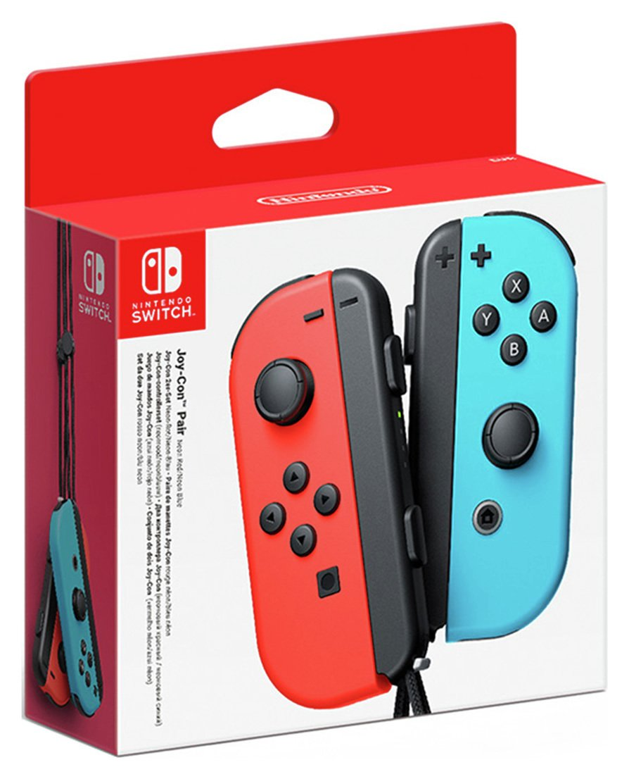 Nintendo Switch Joy-Con Controller Pair Neon Red Neon Blue from nintendo