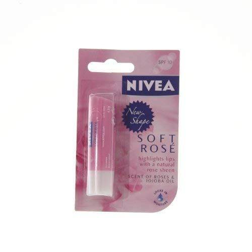 Nivea Lip Care Soft Rose Highlights lips with natural rose sheen from NIVEA