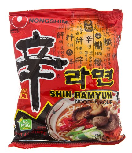 Nong Shim Shin Ramyun Noodle Soup, Gourmet Spicy Flavor, 4.23-Ounce (Pack Of 10)