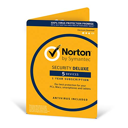 Norton Security Deluxe | 5 Devices | 1 Year | PC/Mac/Android | Download from Symantec
