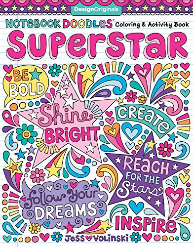 Notebook Doodles Superstar: Coloring & Activity Book from Design Originals