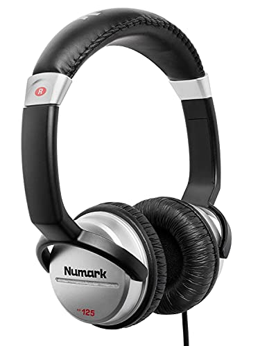 Numark HF125 | Ultra-Portable Professional DJ Headphones With 6ft Cable, 40 mm Drivers for Extended Response & Closed Back Design for Superior Isolation from Numark