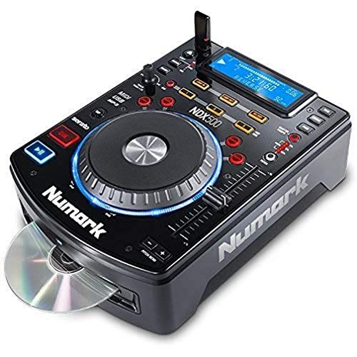 Numark NDX500 - Standalone USB / CD Player and Software Controller with Touch-Sensitive Jog Wheel, Audio Interface, Long Throw Pitch Controls and Mapped for Deep Integration with Serato DJ from Numark