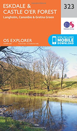 OS Explorer Map (323) Eskdale and Castle O'er Forest (OS Explorer Paper Map) from ORDNANCE SURVEY