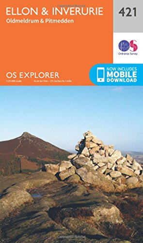OS Explorer Map (421) Ellon and Inverurie  (OS Explorer Paper Map) (OS Explorer Active Map) from ORDNANCE SURVEY