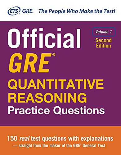 Official GRE Quantitative Reasoning Practice Questions, Second Edition, Volume 1 from McGraw-Hill Education