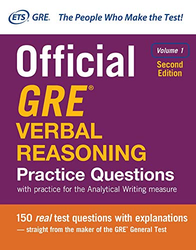 Official GRE Verbal Reasoning Practice Questions, Second Edition, Volume 1 from McGraw-Hill Education