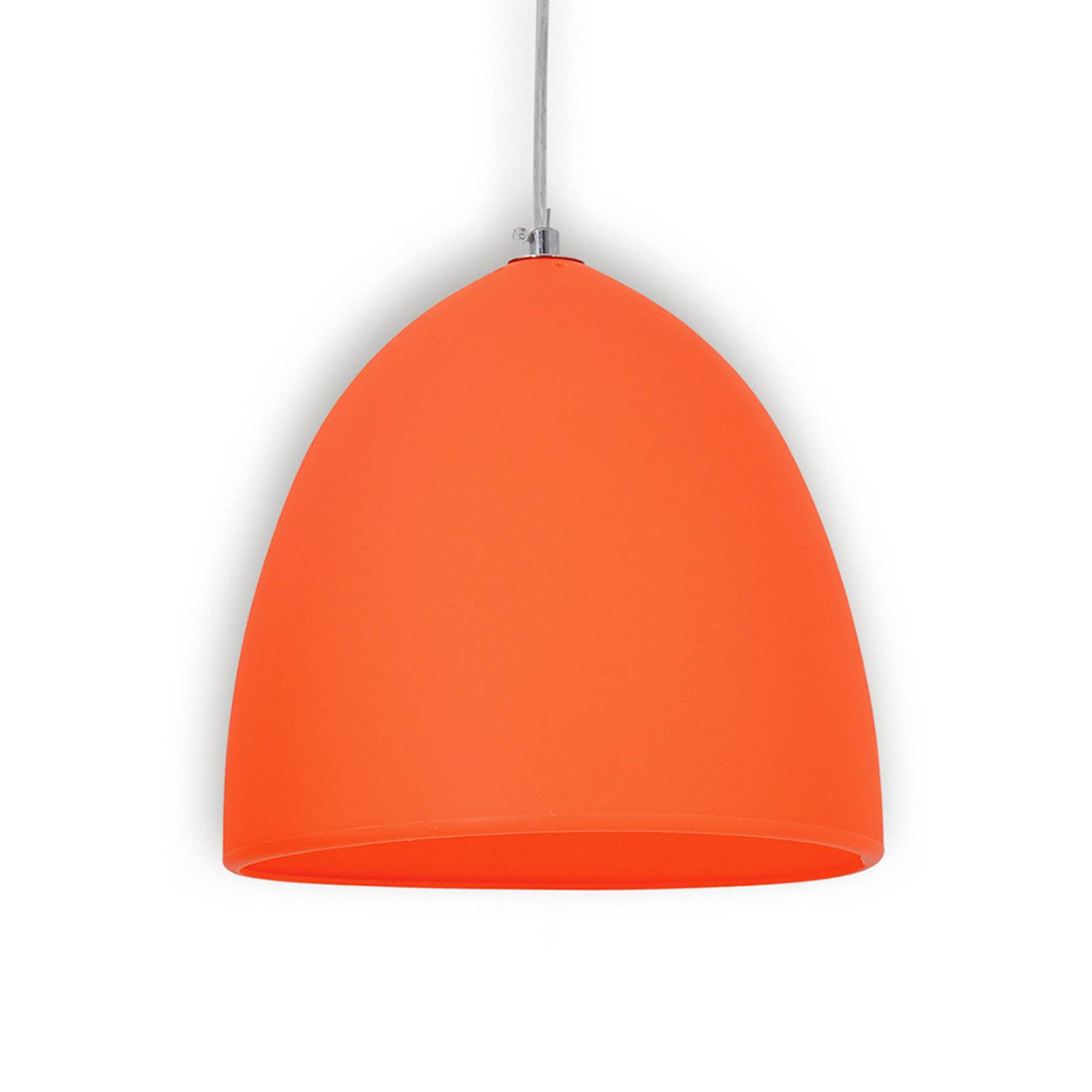 Orange silicon pendant light Fancy from Näve