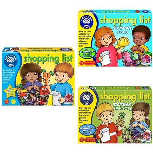 Orchard Toys Shopping List with Booster Pack Bundle
