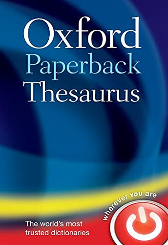 Oxford Paperback Thesaurus from OUP Oxford