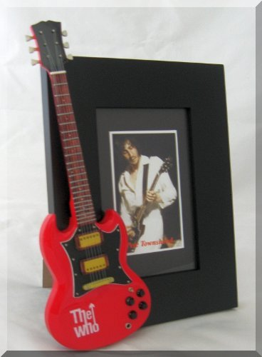 PETE TOWNSHEND Miniature Guitar Photo Frame The WHO red from BABY GUITAR