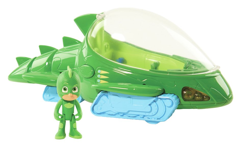 PJ Masks Deluxe Gekko Vehicle with 3 inch Figure. from Disney