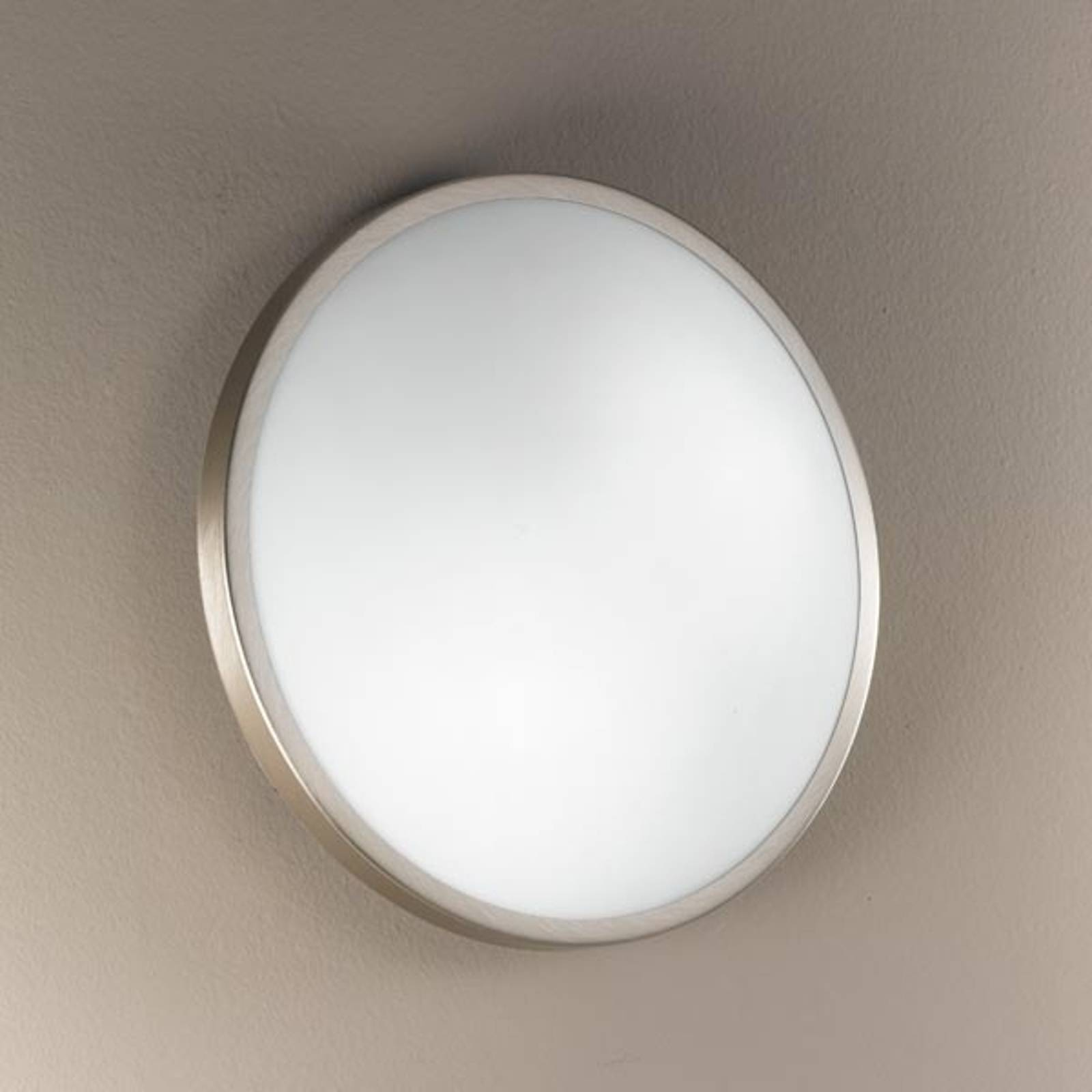 PLAZA ceiling and wall light 21.5 cm nickel from FABAS LUCE