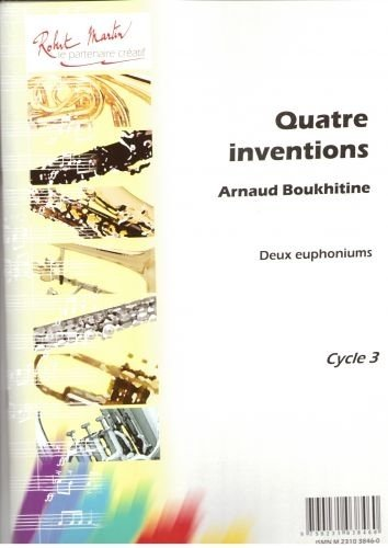 Partitions classique ROBERT MARTIN BOUKHITINE A. - 4 INVENTIONS POUR 2 EUPHONIUMS Tuba from ROBERT MARTIN