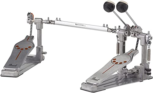 Pearl P-932 Bass Drum Twin Pedal with Interchangeable Cam, Chrome from Pearl