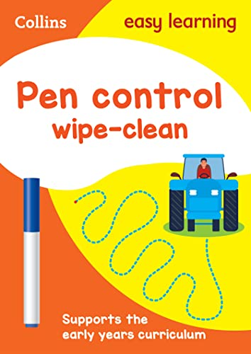 Pen Control Age 3-5 Wipe Clean Activity Book (Collins Easy Learning Preschool) from Collins