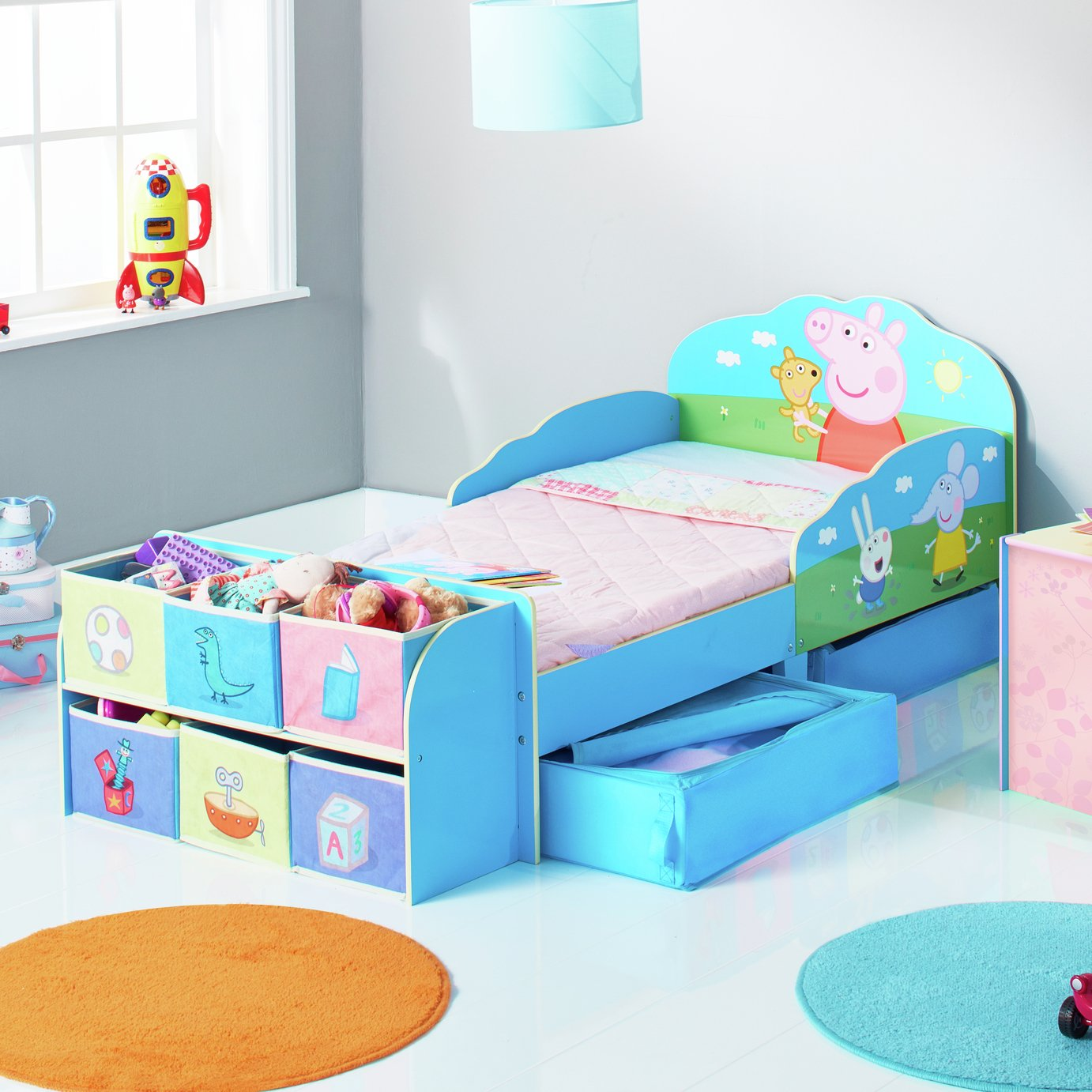Peppa Pig Toddler Bed with Cube Storage from Peppa Pig