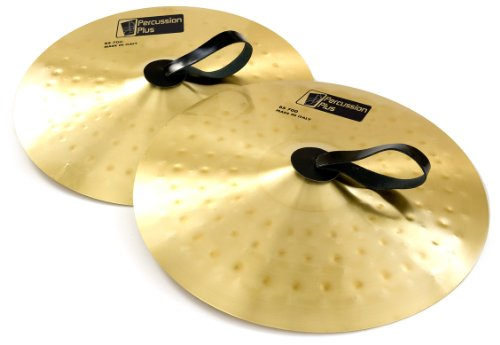 Percussion Plus 16 inch Pair of School Brass Band Cymbals from Italy from Percussion Plus