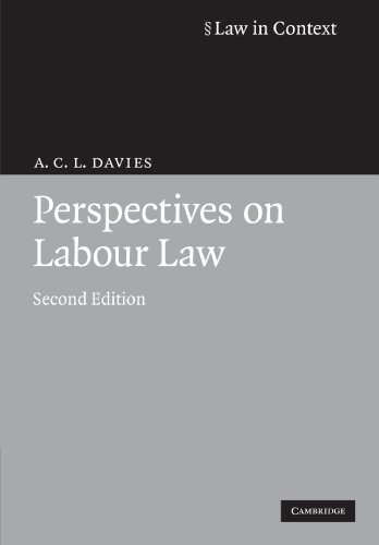 Perspectives on Labour Law (Law in Context) from Cambridge University Press