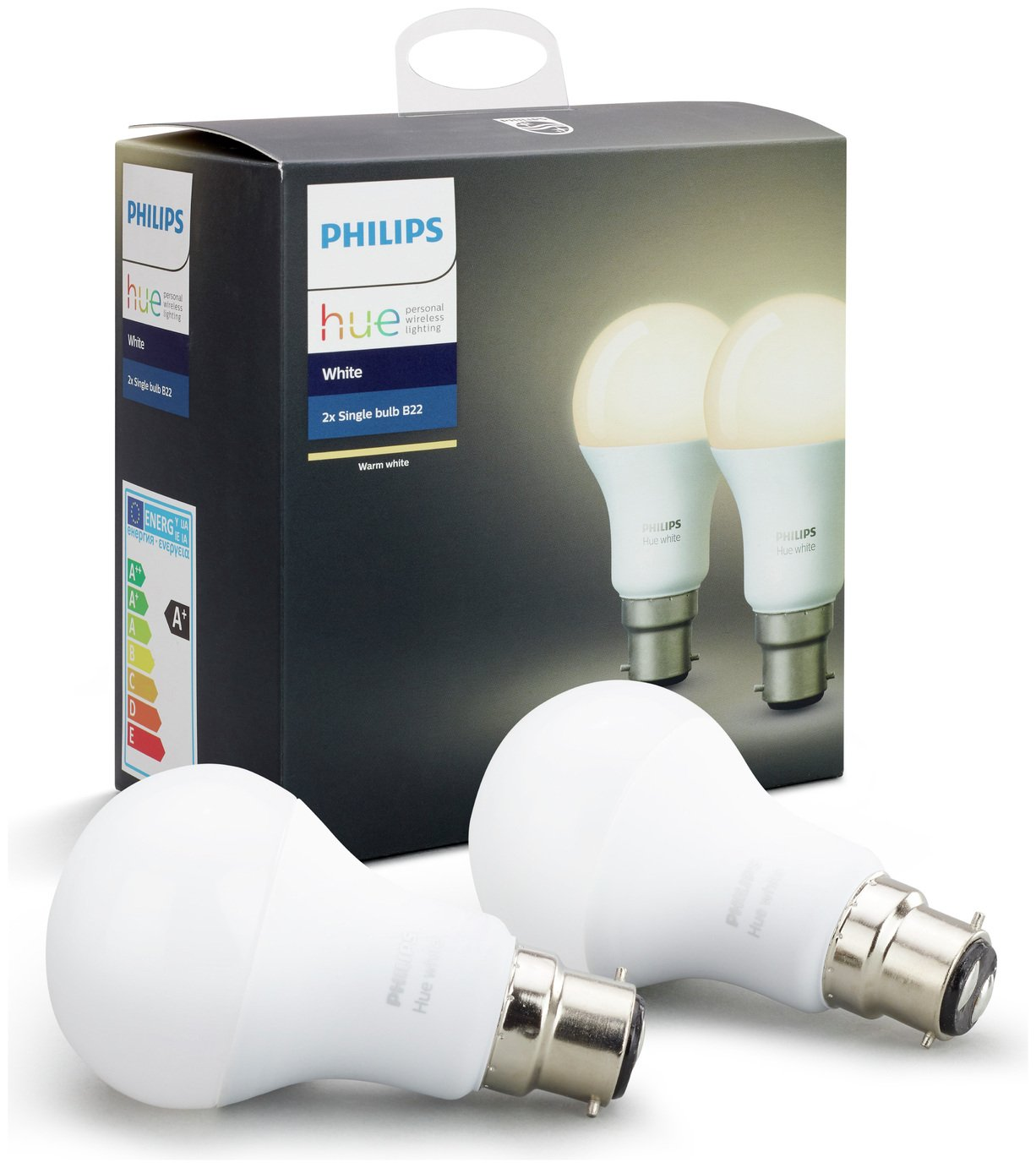 Philips Hue White B22 Bulbs - Twin Pack from Philips
