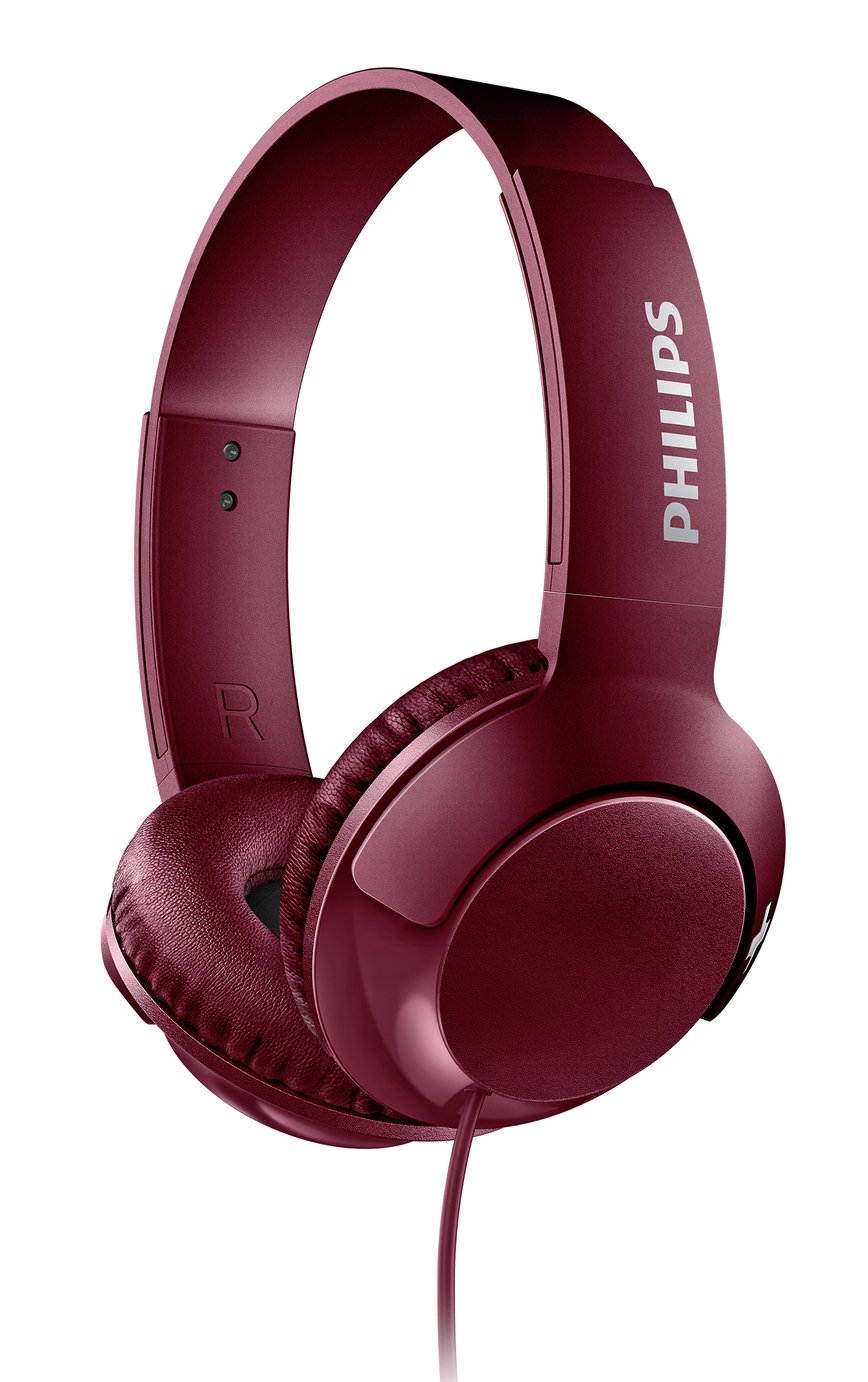 Philips SHL3070 On-Ear Headphones - Maroon from Philips