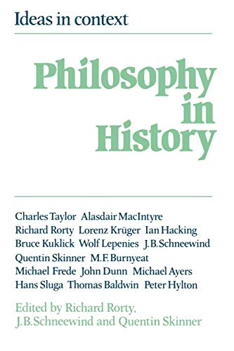 Philosophy in History: Essays in the Historiography of Philosophy (Ideas in Context) from Cambridge University Press