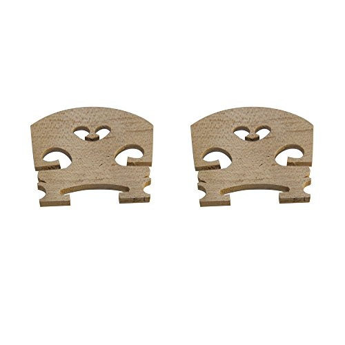 Plain 4/4 size Violin 2 x Bridges in Maple 4/4, 3/4, 1/2 & 1/4 from UK Music Supplies